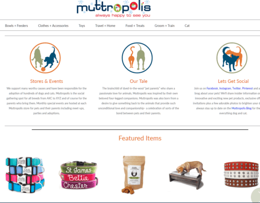 Affiliate Programs for Dogs:  Muttropolis Dog Store