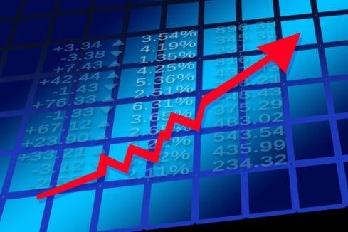 stock arrow going up