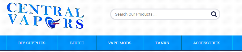 Central Vape Screen Shot for Review Purposes