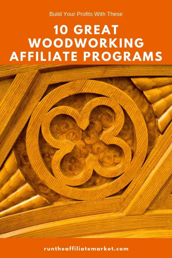 woodworking affiliate programs pinterest image
