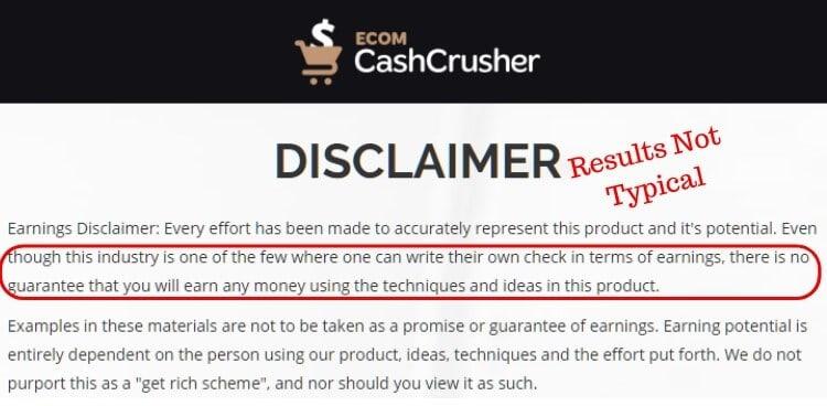 ecom disclaimer