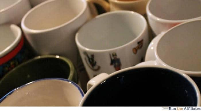 coffee mugs grouped together