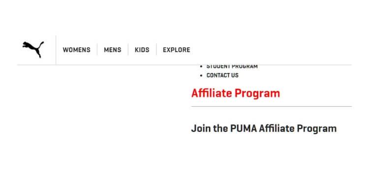 puma partner screenshot