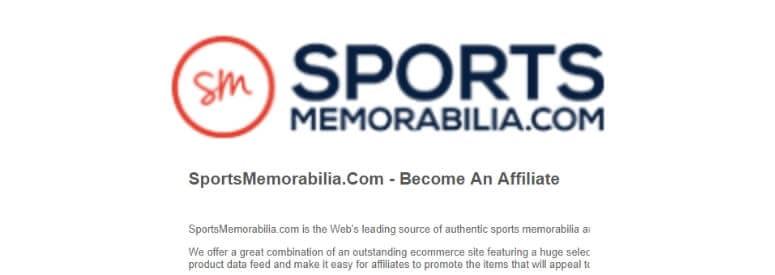 sports memorabilia title card