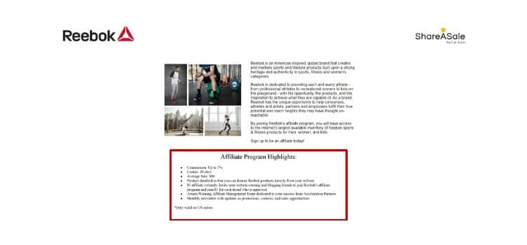 reebok affiliate program title card