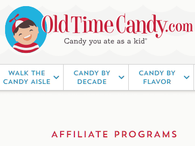 old time candy affiliate program