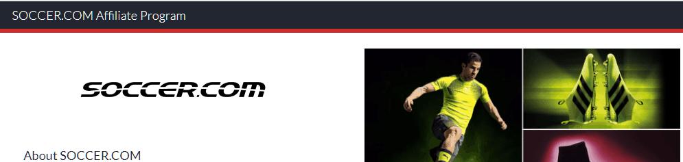 soccer.com Affiliate Program Screenshot