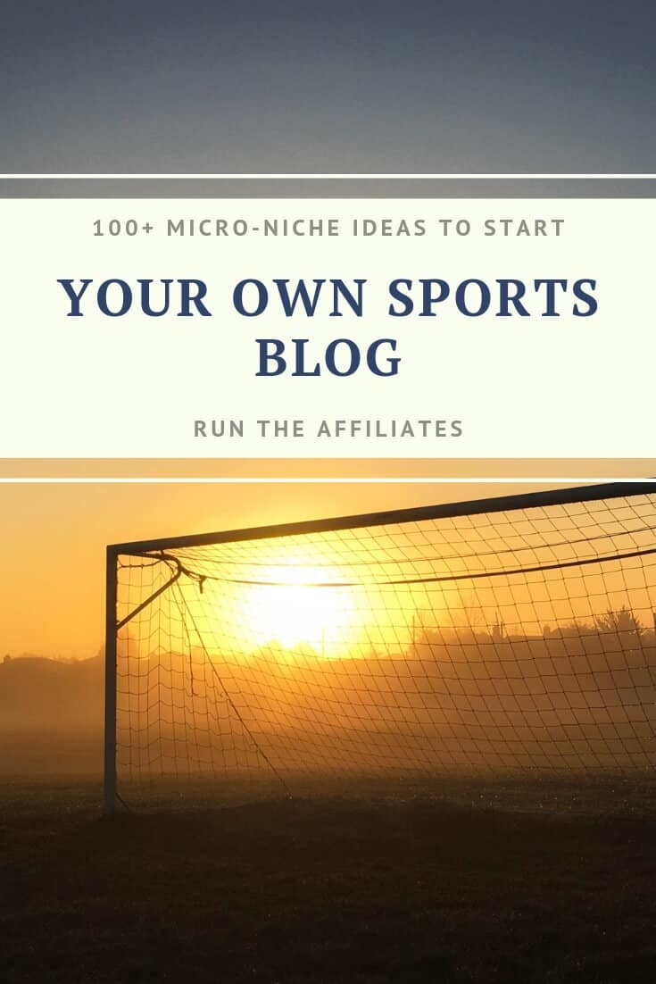 100 micro niche ideas to create your own sports blog pinterest graphic