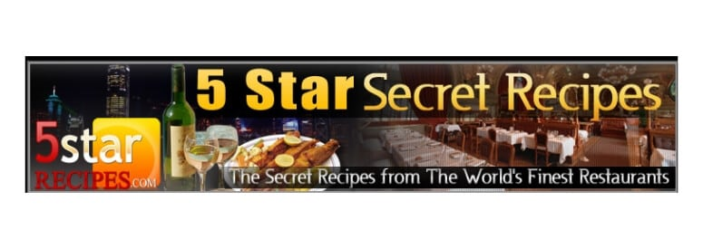 5 star restuarant recipes screenshot for title card