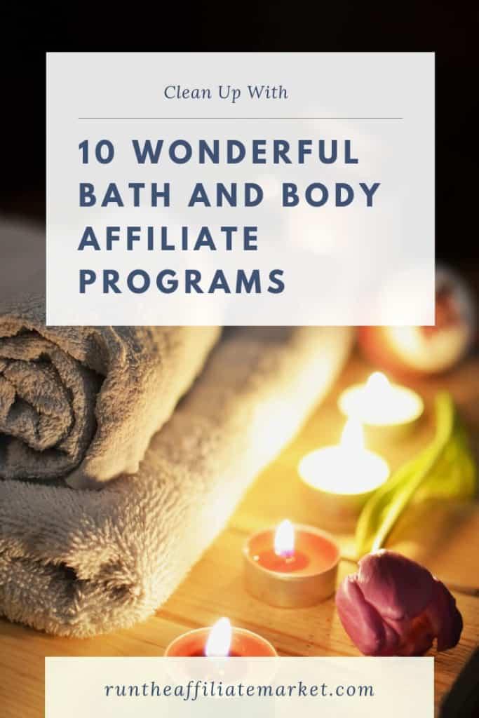 10 bath and body affiliate programs pinterest image