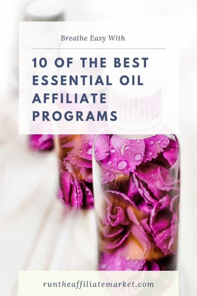 essential oils affiliate programs pinterest image