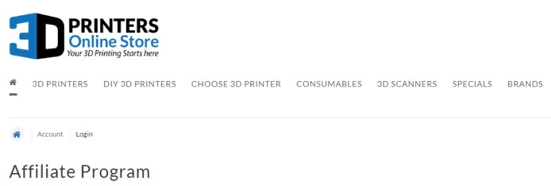 3d printers online screenshot