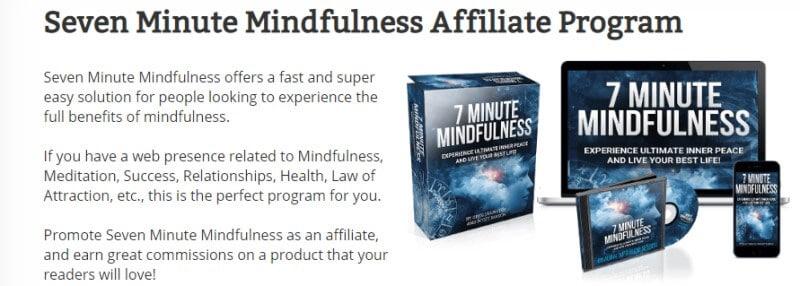 7 minute mind affiliate program screenshot