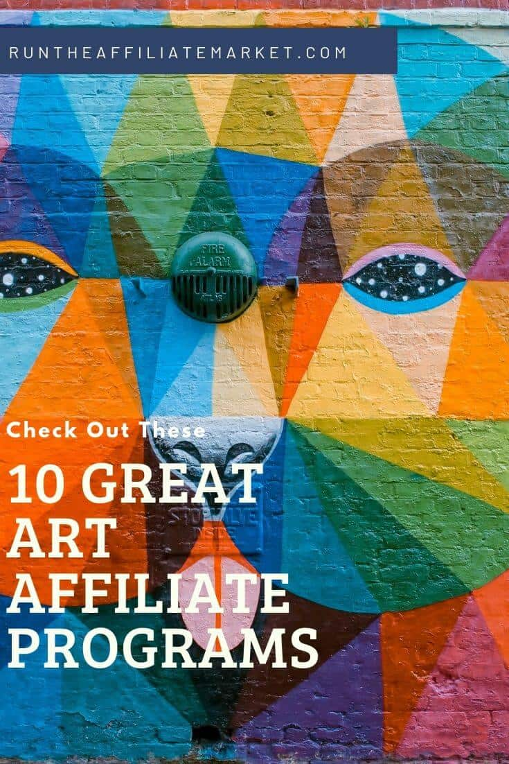 art affiliate program Pinterest Image