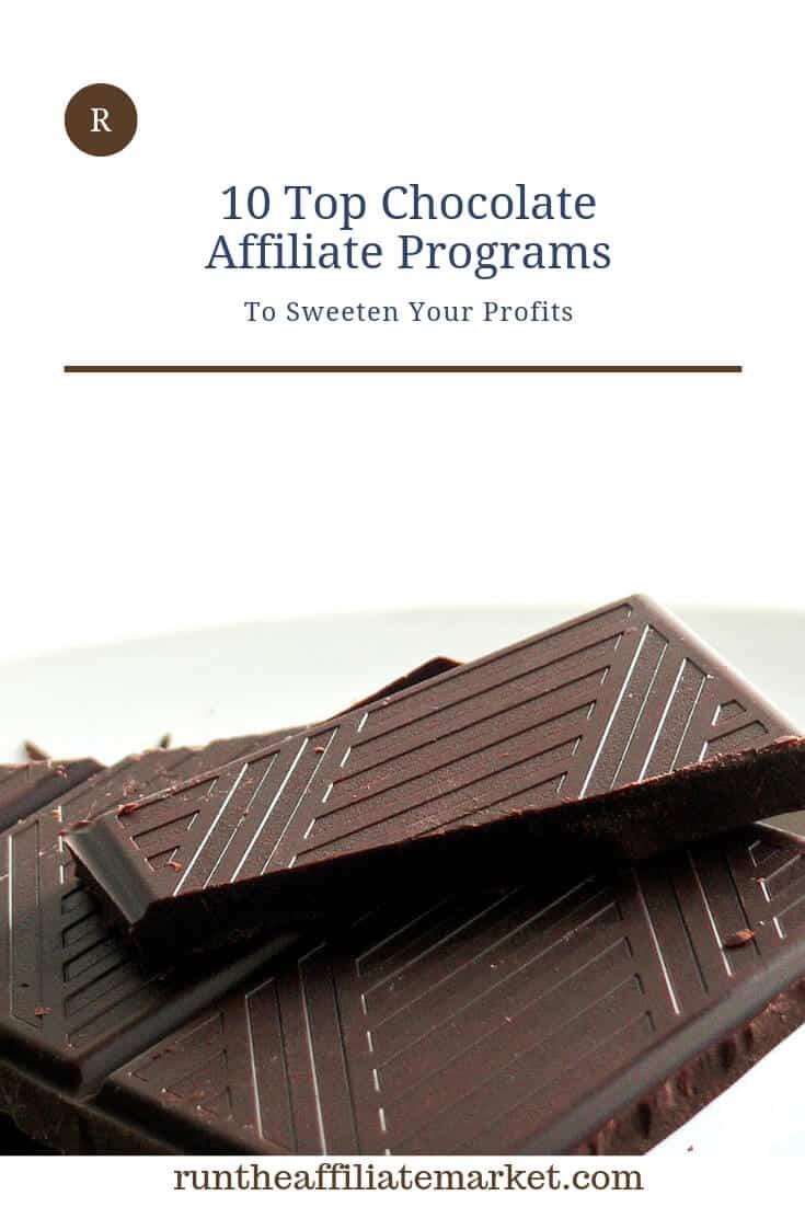 chocolate affiliate programs pinterest image