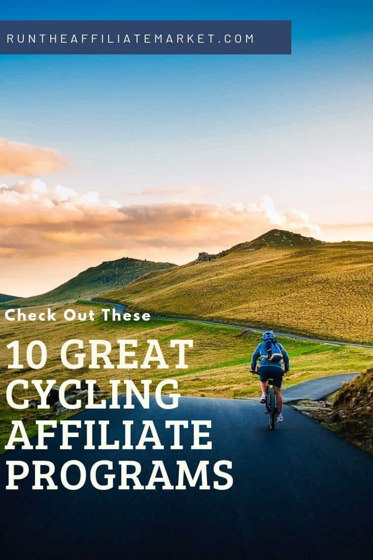 10 cycling affiliate programs pinterest image