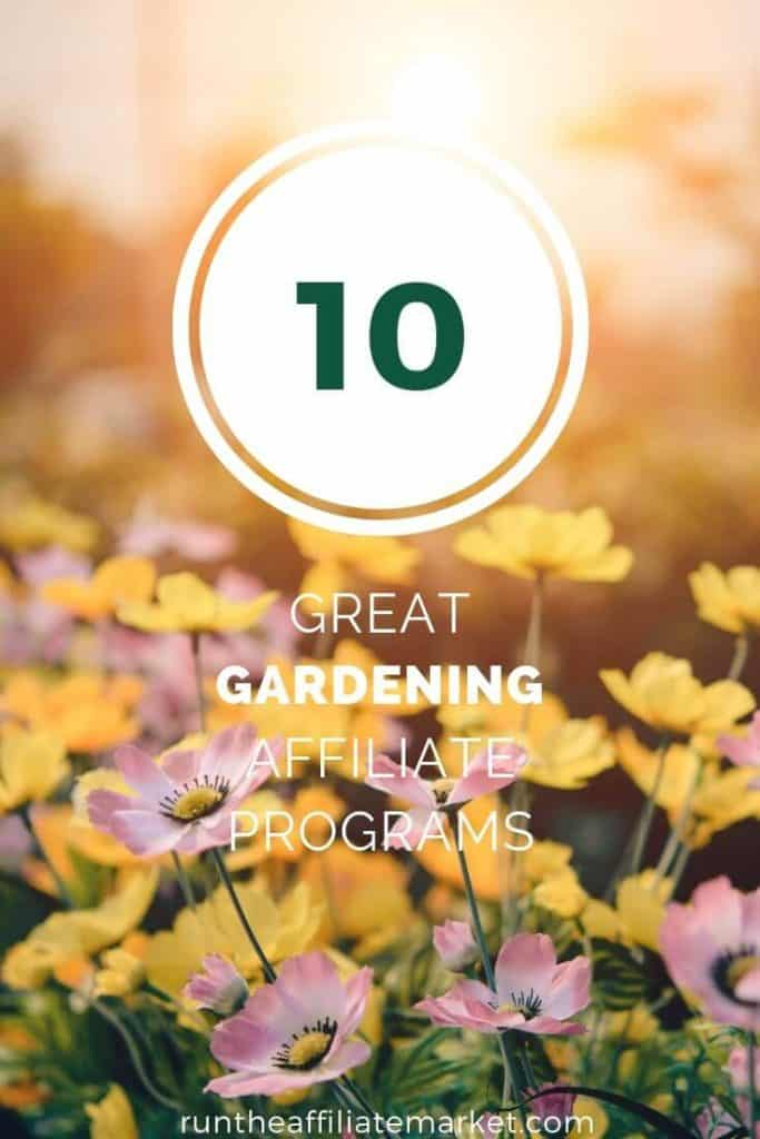 gardening affiliate programs pinterest image