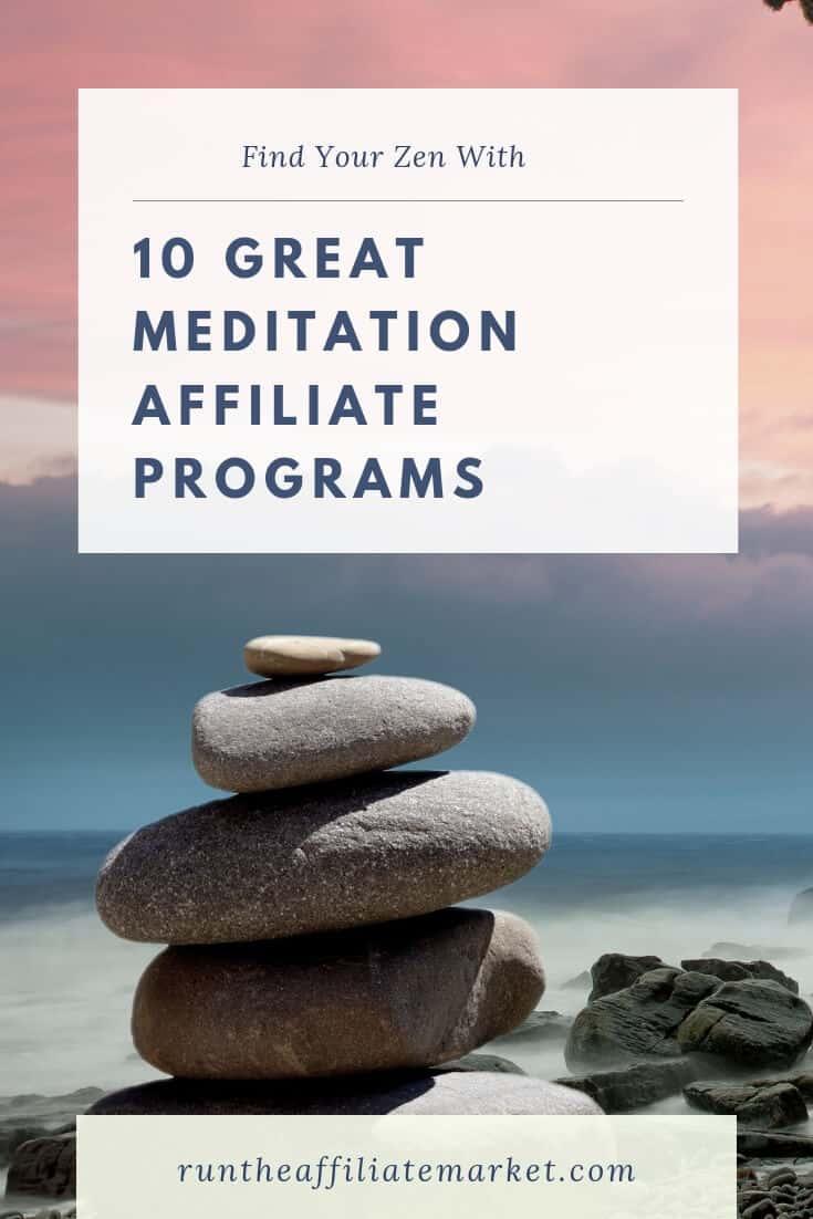 10 Best Meditation Affiliate Programs Pinterest Image