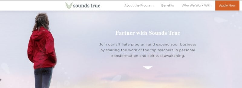 sounds true affiliate screenshot