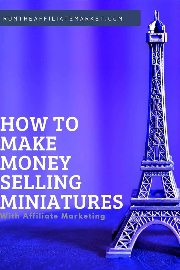 how to make money with miniatures pinterest image