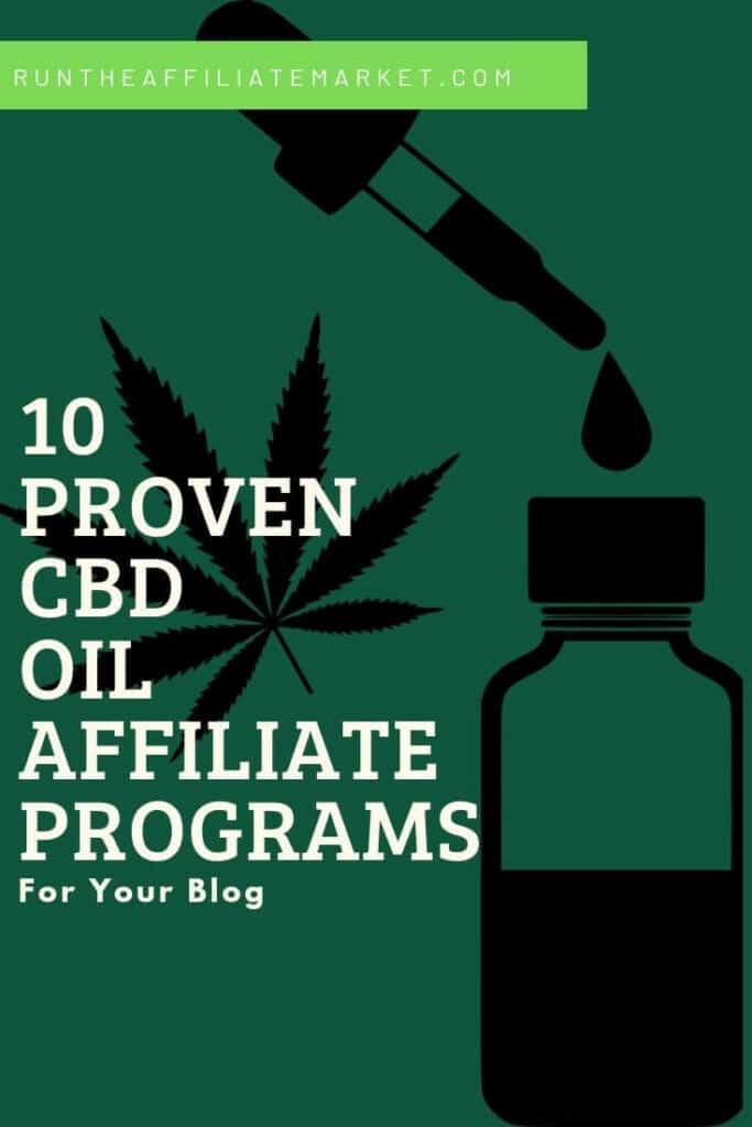 CBD Oil Affiliate Programs Pinterest Image