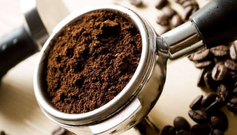 scoop of coffee grounds