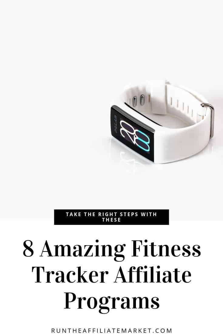 fitness tracker affiliate programs pinterest image