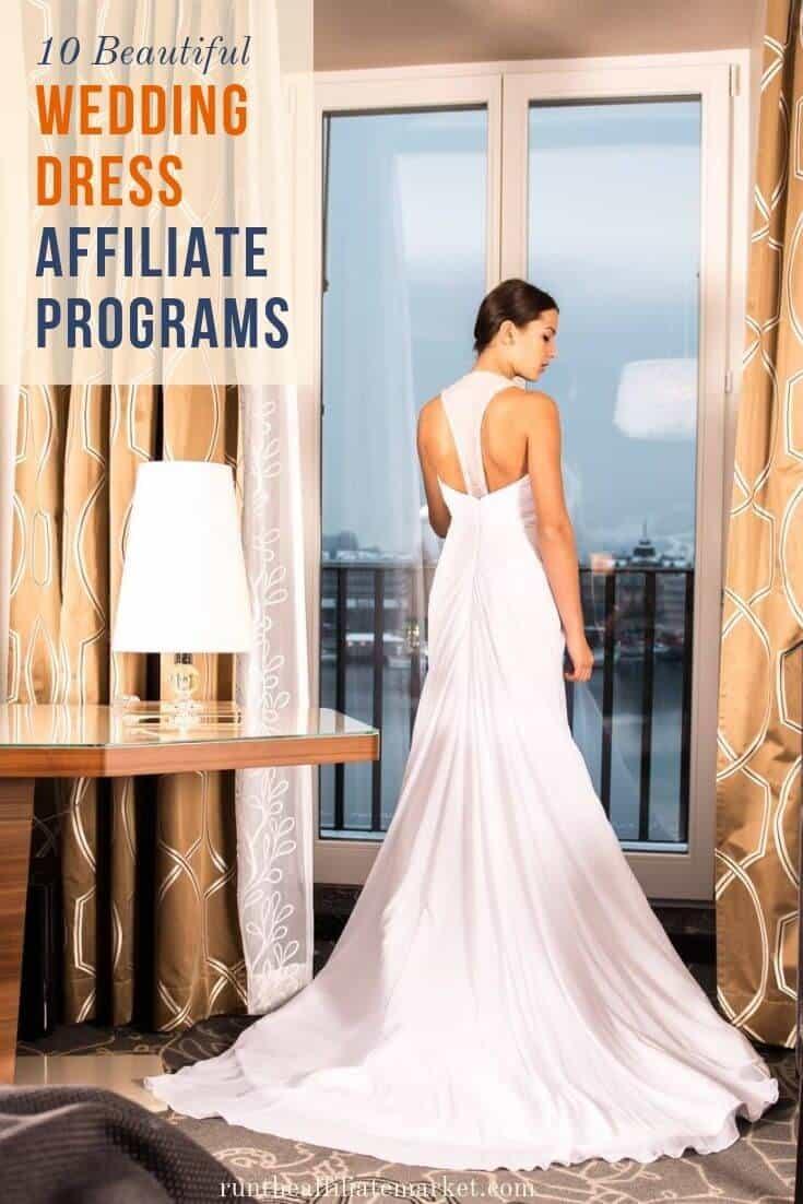 wedding dress affiliate programs pinterest image