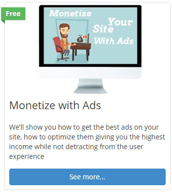 monetize ads lesson