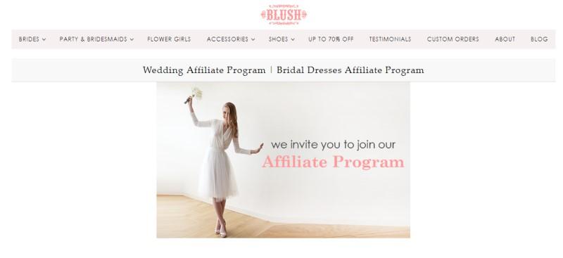 blush fashion affiliate screenshot