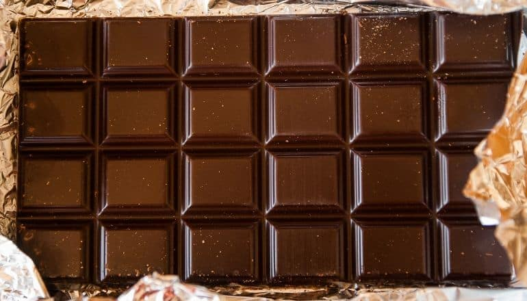 chocolate bar unwrapped