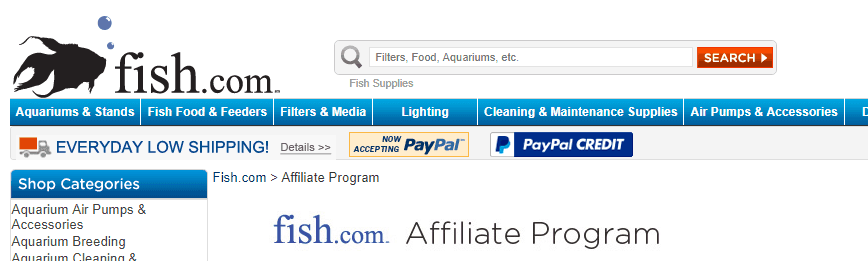 fish.com affiliate screenshot