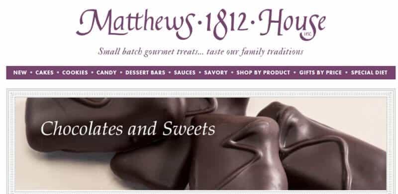 matthews 1812 house screenshot