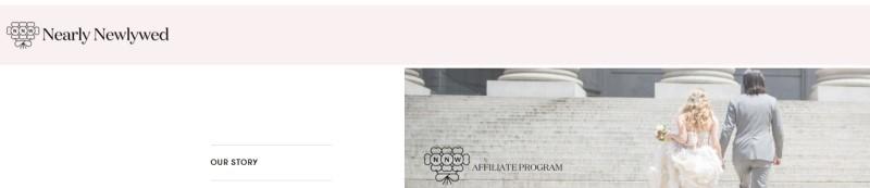 nearly newlywed affiliate screenshot