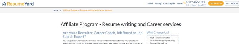 resume yard screenshot