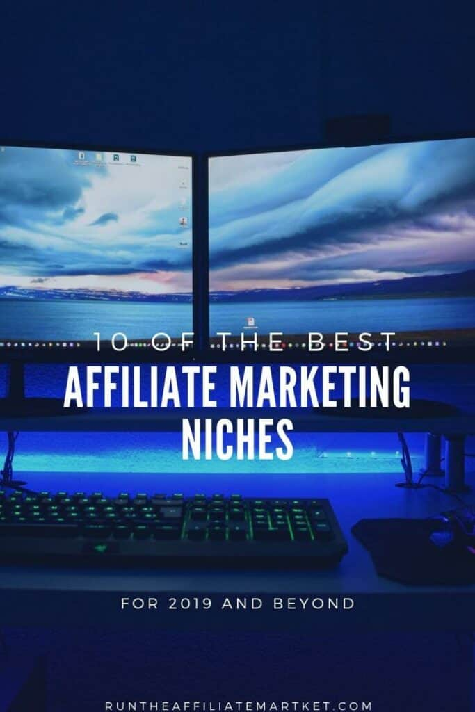 10 top affiliate marketing niches pinterest image