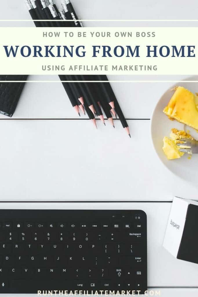 be your own boss working from home pinterest image
