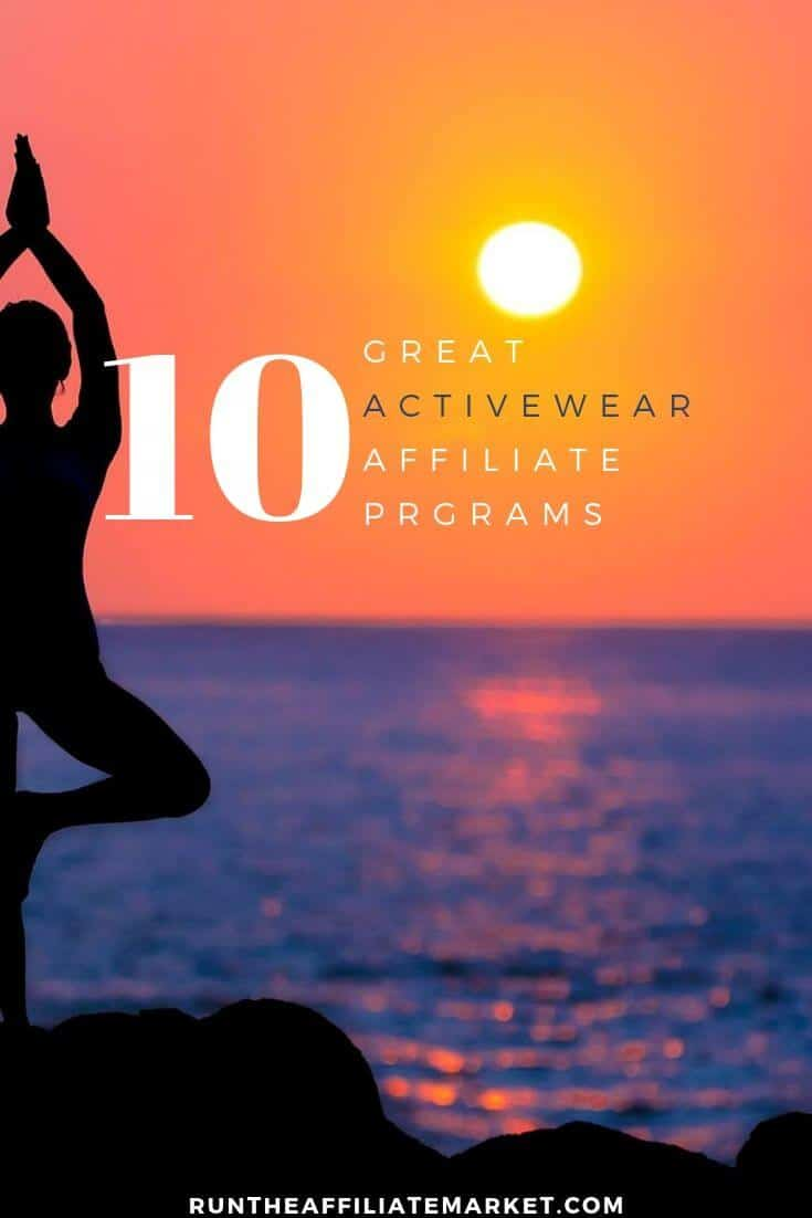 activewear affiliate programs pinterest image