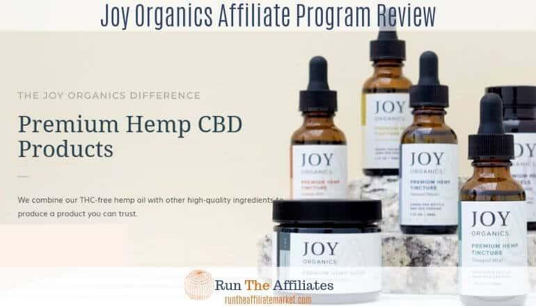 joy organics product screenshot