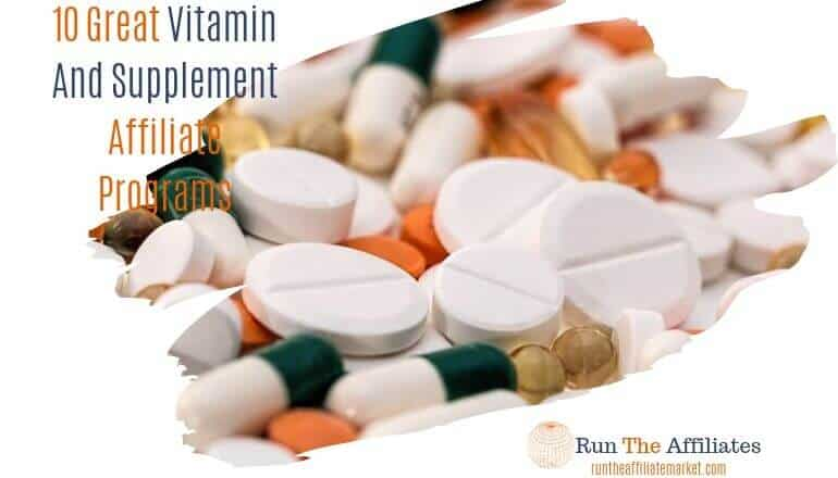 vitamins and supplement scattered on table