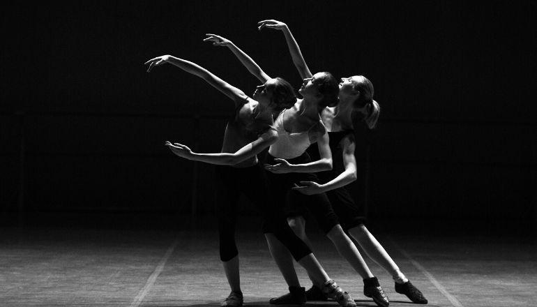 woman in black dancing