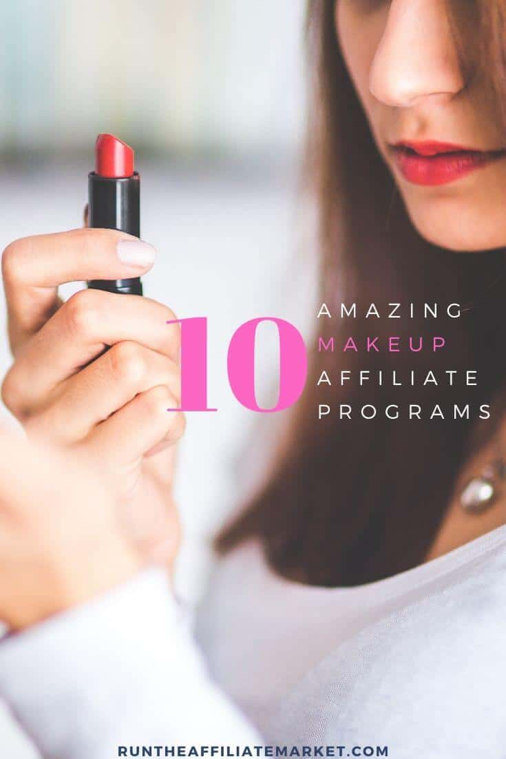 makeup affiliate programs pinterest image