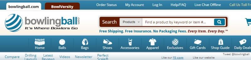 bowlingball.com screenshot