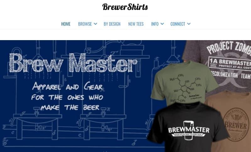 brewer shirts screenshot