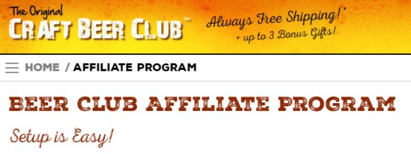 craft beer club screenshot