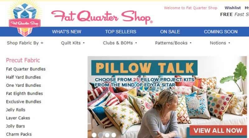 fat quarter shop screenshot
