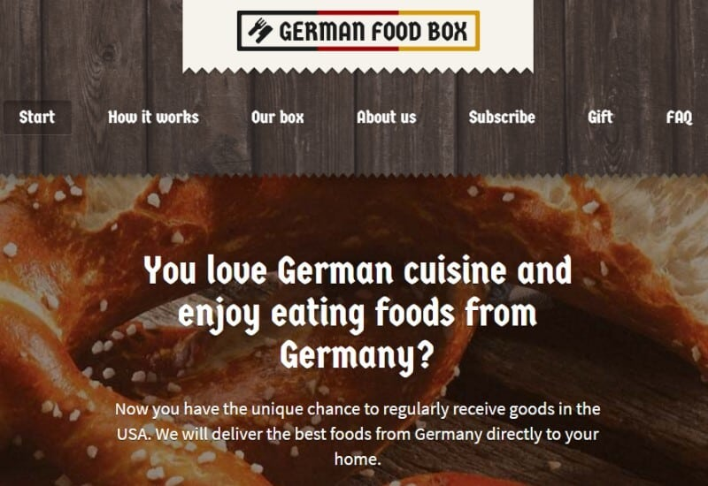 german food box screenshot