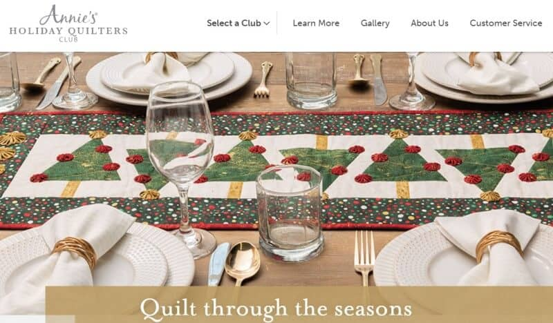 holiday quilters screenshot