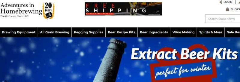 adventures in homebrewing affiliate screenshot