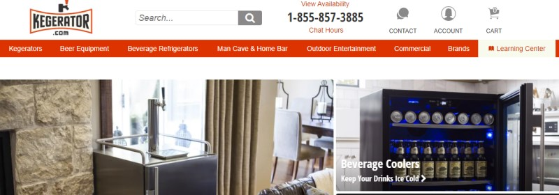 kegerator affiliate screenshot